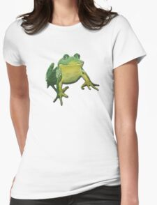 Froggy Cuteness Womens Fitted T-Shirt