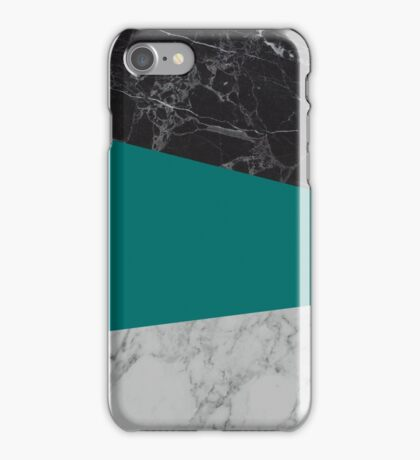 Black-White-Blue Marble iPhone Case/Skin