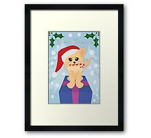 Christmas Puppy Framed Print