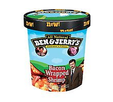 Ben and Jerrys Bacon Wrapped Shrimp Photographic Print