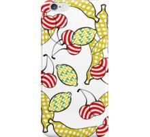 Tutti Frutti- Fruit Design on White iPhone Case/Skin