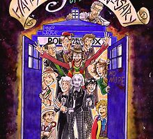 Crowded in the TARDIS (Doctor Who 50th Anniversary) by SonjaArts