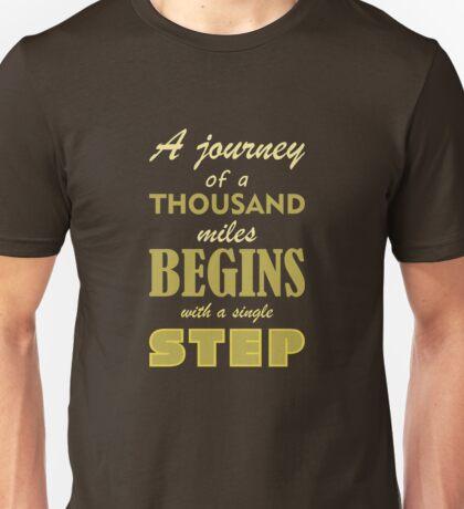 A Journey Of A Thousand Miles Unisex T-Shirt