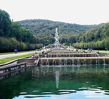Waterfalls in Reggia di Caserta by GiroFra95