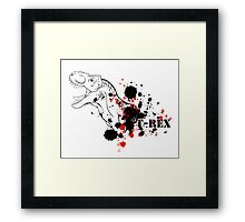 T-Rex (Red and Black) Framed Print