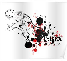 T-Rex (Red and Black) Poster