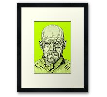 Walter White Portrait Framed Print