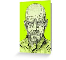 Walter White Portrait Greeting Card