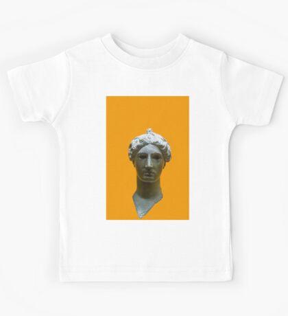 Bronze head of Nike (victory) 420 BCE. Digitally enhanced  Kids Tee