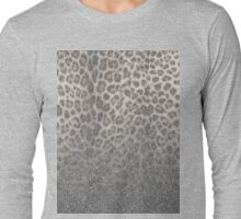 Shimmer (Snow Leopard Glitter Abstract) Long Sleeve T-Shirt