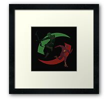 Green and Red Framed Print