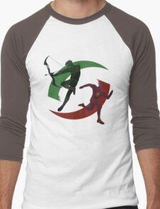 Green and Red Men's Baseball ¾ T-Shirt