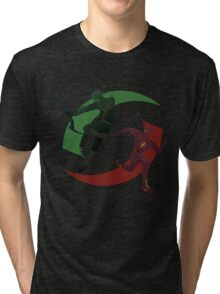 Green and Red Tri-blend T-Shirt