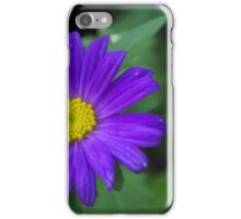 Single blue flower iPhone Case/Skin