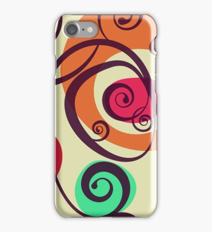 Colored floral abstraction iPhone Case/Skin