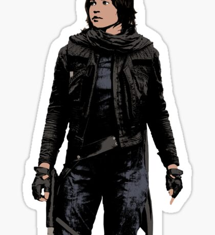 Jyn Erso - Star Wars: Rogue One - White Sticker