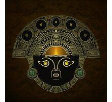 God Sun mask (INTI) Photographic Print