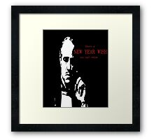 new year - godfather - funny Framed Print