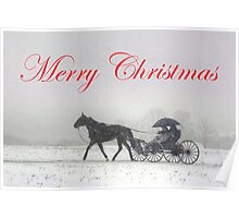 Merry Christmas Buggy Ride Poster