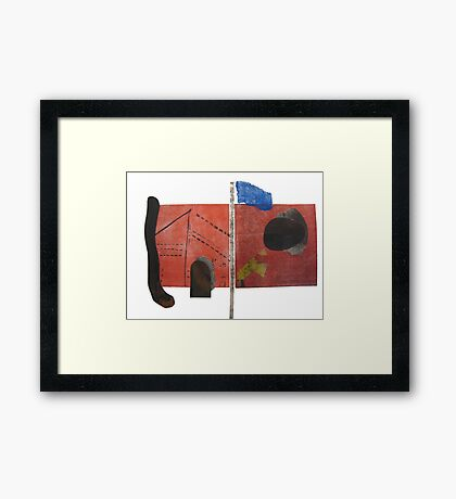 Between The Flag Framed Print