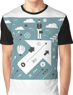 Abstraction business arrow Graphic T-Shirt