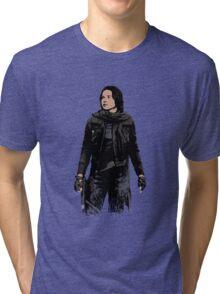 Jyn Erso - Star Wars: Rogue One - Black Tri-blend T-Shirt