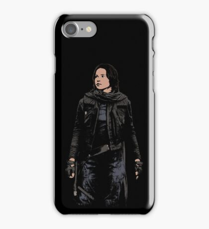Jyn Erso - Star Wars: Rogue One - Black iPhone Case/Skin