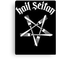 Hail Seitan 1.2 (white) Canvas Print