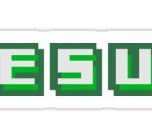 text cool pixel gamer retro 8 bit muster kreuz christ logo design schriftzug jesus christus  Sticker