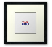 Vote Knope Framed Print