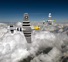 P-51s colour version by Gary Eason + Flight Artworks