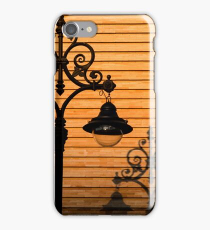 Streetlight shadow  iPhone Case/Skin