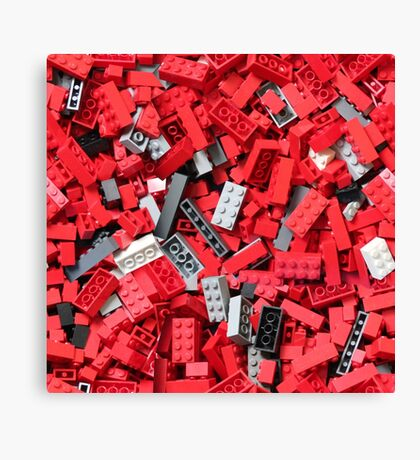 Loads of Bricks (red) Canvas Print