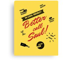Better Call Saul, Saul Goodman, Breaking Bad Lawyer, World's Second Best Lawyer Canvas Print