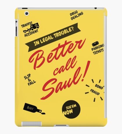 Better Call Saul, Saul Goodman, Breaking Bad Lawyer, World's Second Best Lawyer iPad Case/Skin