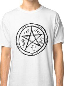 SuperNatural Painted Demon Trap Classic T-Shirt