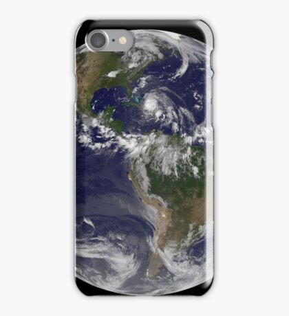 August 24, 2011 - Satellite view of the Full Earth with Hurricane Irene visible over the Bahamas. iPhone Case/Skin