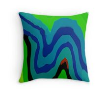 Curving It Up (Mickeys Art And Design.Biz) Throw Pillow