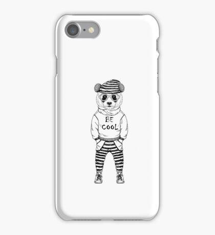 Be Cool, cute panda bear design, nice gift idea iPhone Case/Skin