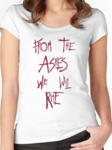 The 100 - from the ashes we will rise - red Women's Fitted Scoop T-Shirt
