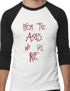 The 100 - from the ashes we will rise - red Men's Baseball ¾ T-Shirt