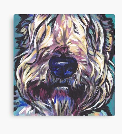 Wheaten Terrier Bright colorful pop dog art Canvas Print