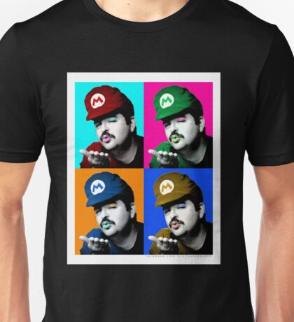 Warhol Inspired SexyMario -- Sexy Super Mario Unisex T-Shirt