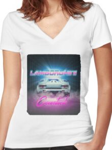 LAMBORGHINI COUNTACH Women's Fitted V-Neck T-Shirt