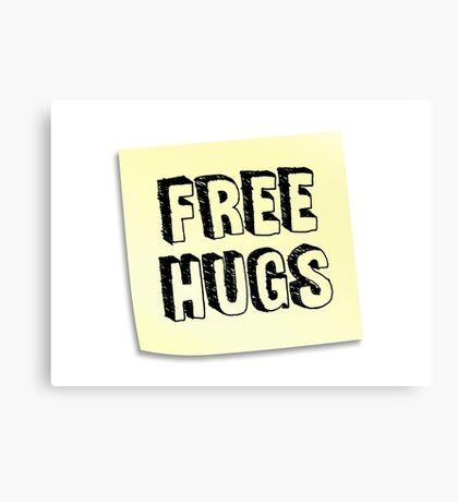 FREE HUGS - Post It Canvas Print