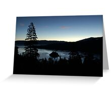 Emerald Bay in the Early Morning Greeting Card