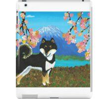 Kuro Shiba Sakura & Mt. Fuji iPad Case/Skin