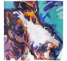 Wire Fox Terrier Bright colorful pop dog art Poster