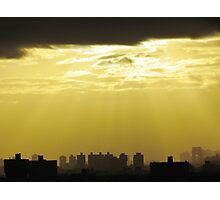 Cloudy Sunset in New York City  Photographic Print