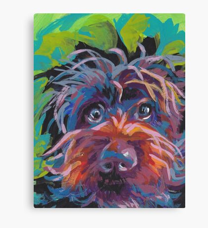 WireHaired Pointing Griffon Bright colorful pop dog art Canvas Print